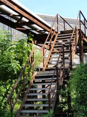 alte Stahlkonstruktion