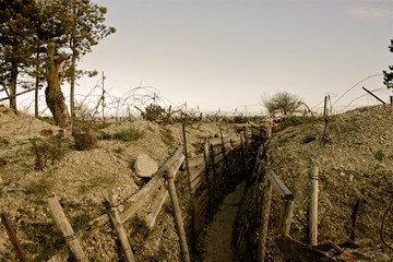 WWI trench East of France