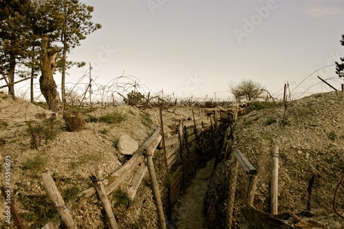 Papiers peints Campagne WWI trench East of France