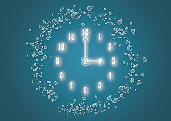 Time Clock 時計 時間 water 水