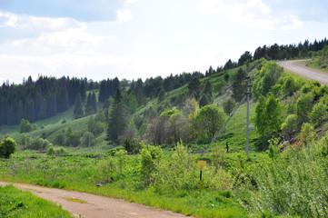 Грунтовая дорога в Караидельском районе, республика Башкортостан