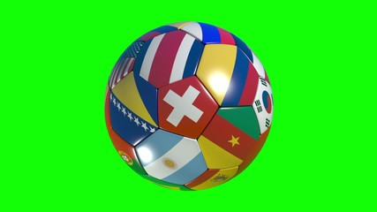 World footbal nations green screen.
