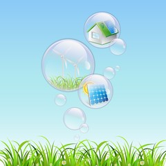 renewable bubble water clear