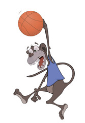 Monkey the basketball player