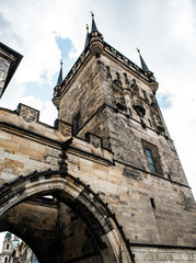 Prague bridge tower