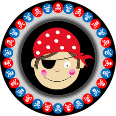 Pirate Round Label