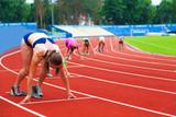 sportswomen at the start