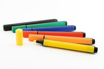 Isolated Colored markers