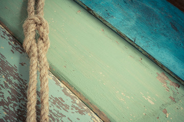 rope on wooden