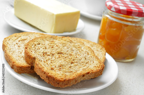 bread, butter and jam