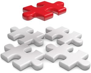 Puzzleteile einsetzen