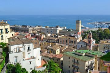 Panorama di Salerno vista dal Giardino della Minerva