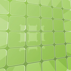 Abstract Transparent Green Prism Structure - Background Vector