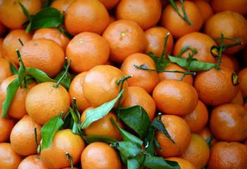 Mandarines background