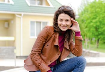 Beautiful charming stylish young woman