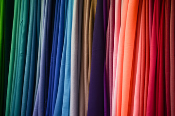 Multicolored fabric texture