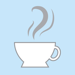 Coffee cup icon with steam