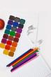Постер, плакат: Краски карандаши тетради