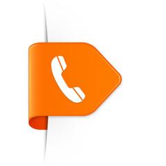 Phone - Orangener Sticker Pfeil mit Schatten