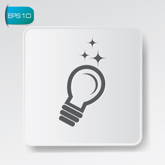 Light bulb sign,vector