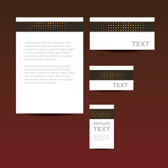 Stationery Template, Corporate Image Design