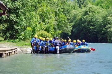 rafting-descente de l'isère