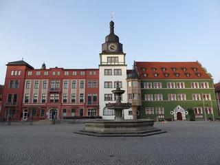 Rathaus mit Marktplatz Rudolstadt