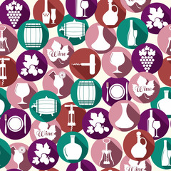 Wedding seamless pattern witch icons.