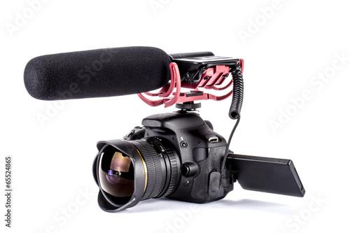 Leinwanddruck Bild Digitale Spiegelreflexkamera