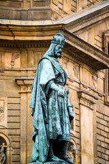 Statue of Charles V in Prague, the capitol of Czech Republic
