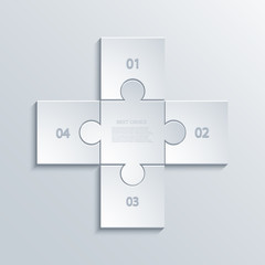 Vector modern puzzle infographics background.