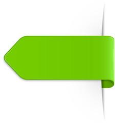 Hellgrüner Sticker Pfeil mit Textfreiraum