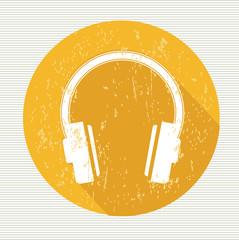 Earphone symbol,vector