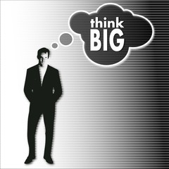 businessman thinks on think big