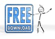 canvas print picture - stick man presents free download symbol