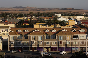 View over Swakopmund and the Dunes, Namibia