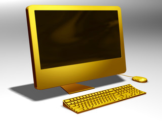 Computer in gold
