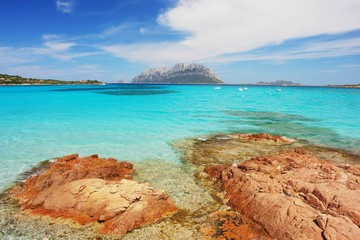 Sardinia, view of Island Tavolara