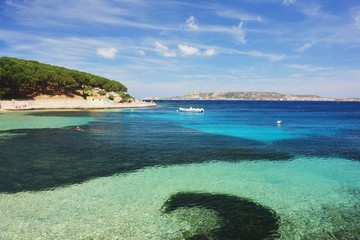 The beach in Palau, Sardinia