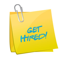get hired post illustration design