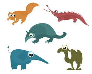 Cartoon funny animals set for design 8