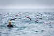 Triathletes at Ironman triathlon competition at Calella
