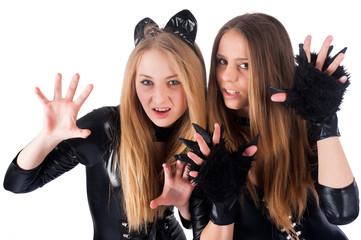beautiful girls in cat costume