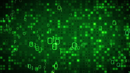 green information technology loopable background