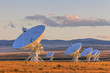 canvas print picture - Very Large Array Satellite Dishes at Sunset in New Mexico, USA