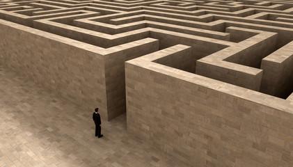man and labyrinth