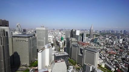 新宿高層ビル街より東京都心全景