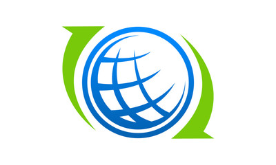 global world sphere logo