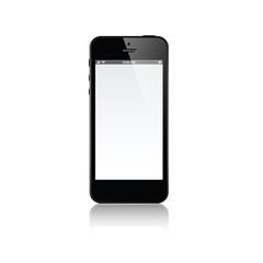 Realistic black mobile phone