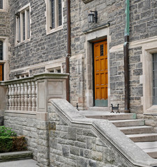 stone steps and balustrade